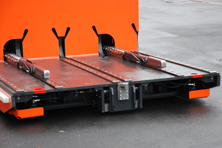 This HUBTEX tool changer is equipped with thrust rods.