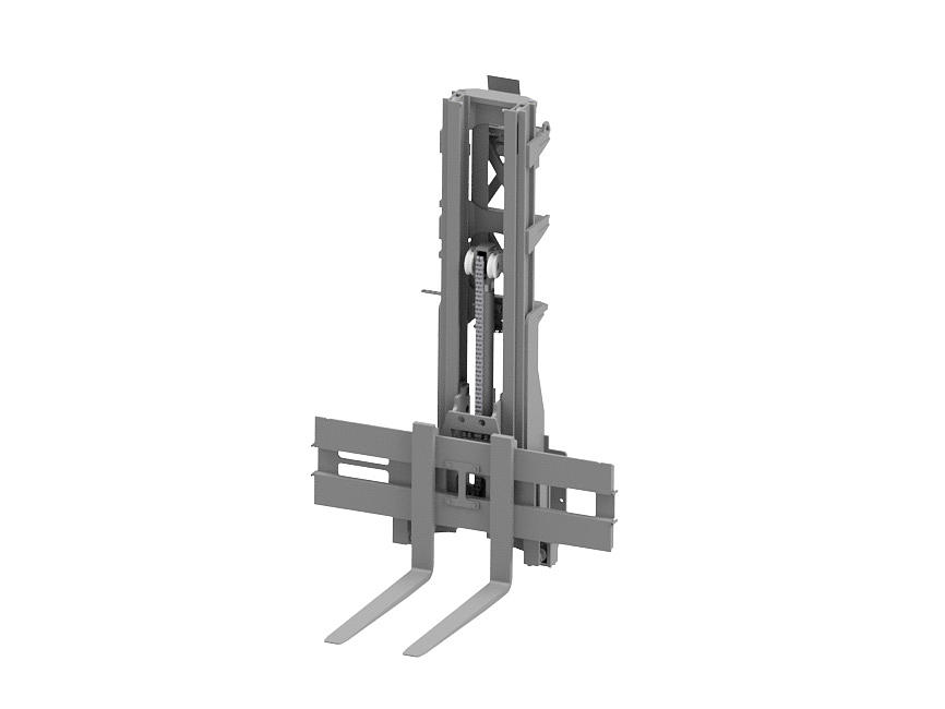 Graphic of a Duplex mast for the multidirectional counterbalance forklift truck.