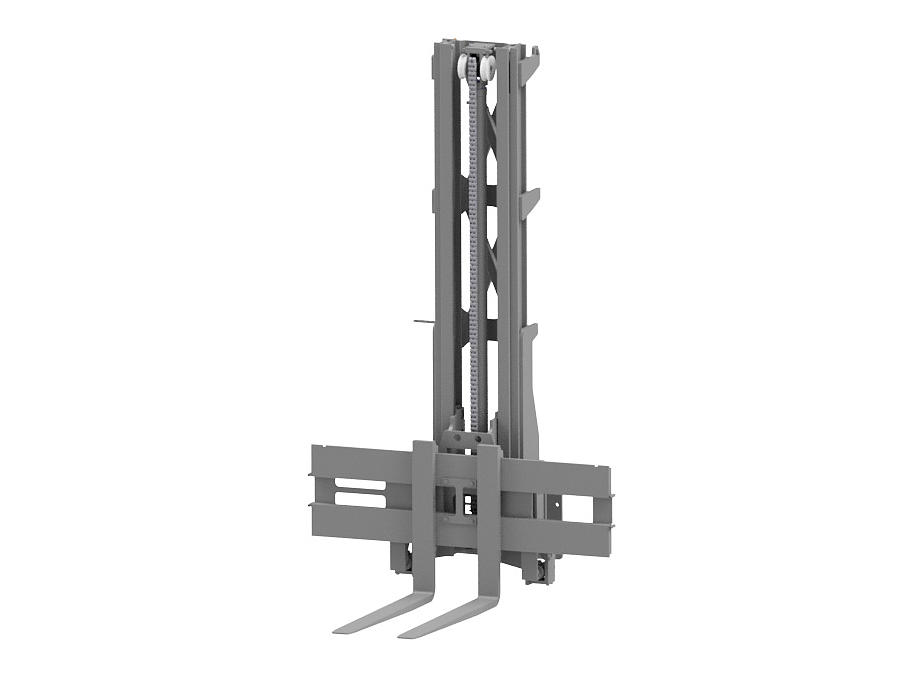 Graphic of a Simplex mast for the multidirectional counterbalance forklift truck.