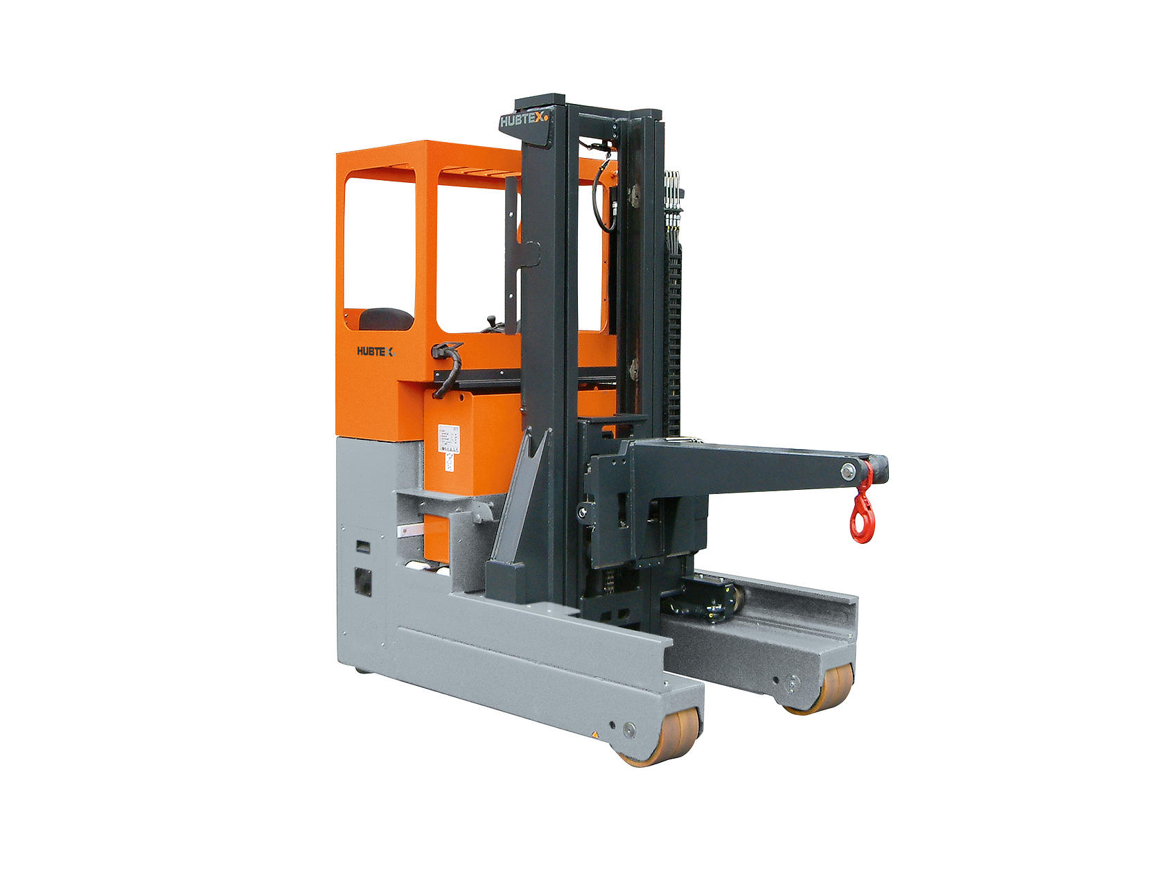 HUBTEX reach truck in the tire industry